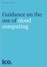 Guidance on the use of Cloud Computing